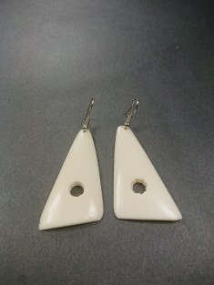 boucles d'oreilles ethniques en corne de zebu