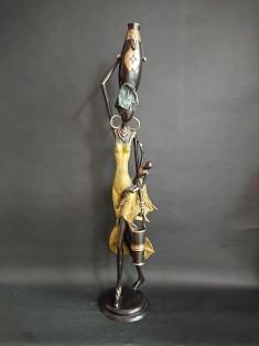 Sculpture bronze la Porteuse et l'enfant