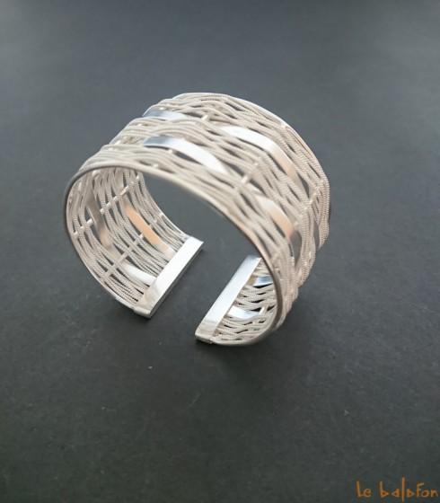 Bracelet ethnique en argent