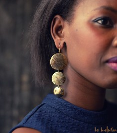 Boucles d'oreilles africaines Mali