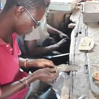 Artisans bijoutiers sénégalais